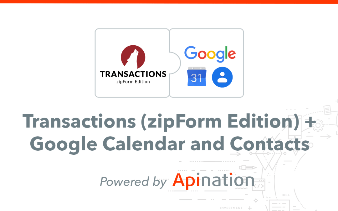 How to Setup the Transactions (zipForm Edition) and Google Contacts Sync