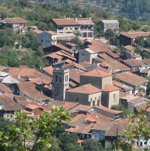 Stone Villages with red tile roofs