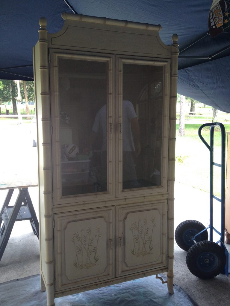 Faux Bamboo China Cabinet