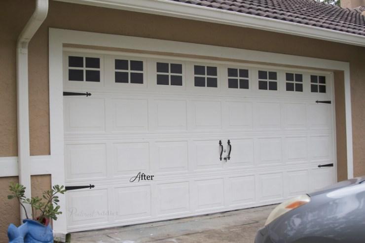 Faux Carriage Garage Door - Carriage Garage Door - After