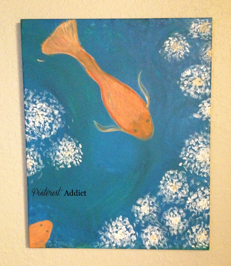 goldfish and white flowers by me, the Pinterest Addict