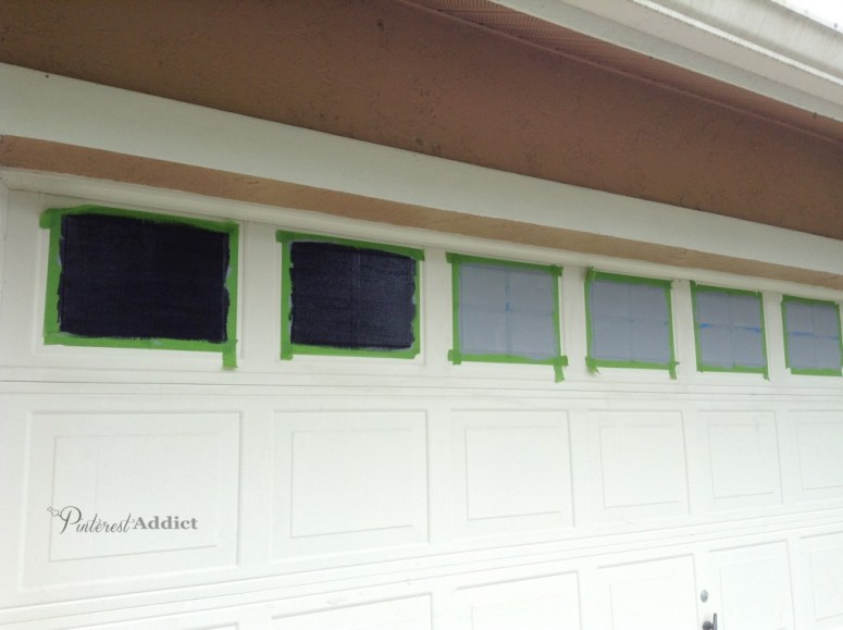 Faux Carriage Garage Door - primer and paint