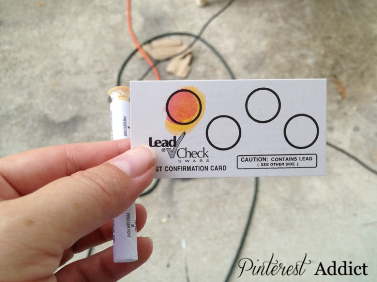 3M Lead Check Swabs - How to check your vintage furniture for lead paint - 3M Lead Check Swabs test confirmation card