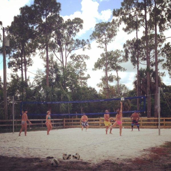 First game ever on the new volleyball court