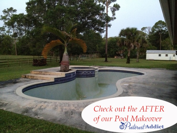 Come check out the AFTER of our pool makeover