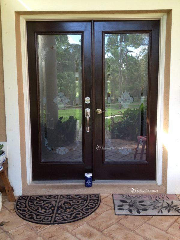 front door in Sherwin Williams Black Bean