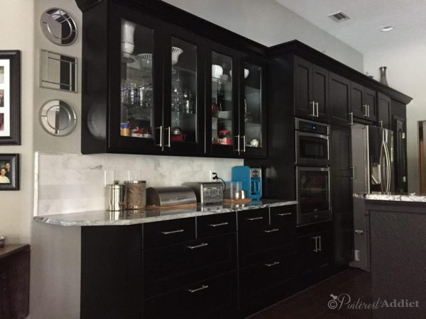 The other side of the kitchen - with the finished marble backsplash