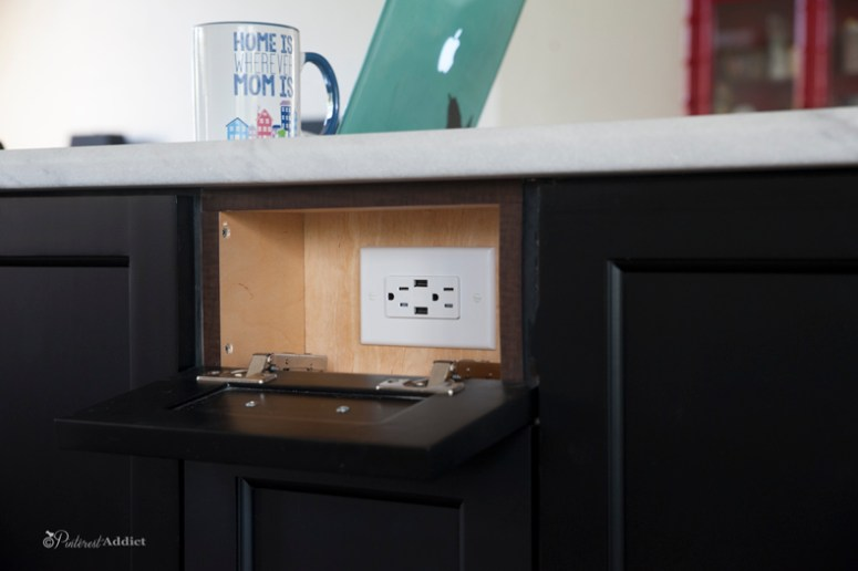 Hidden electric receptacle