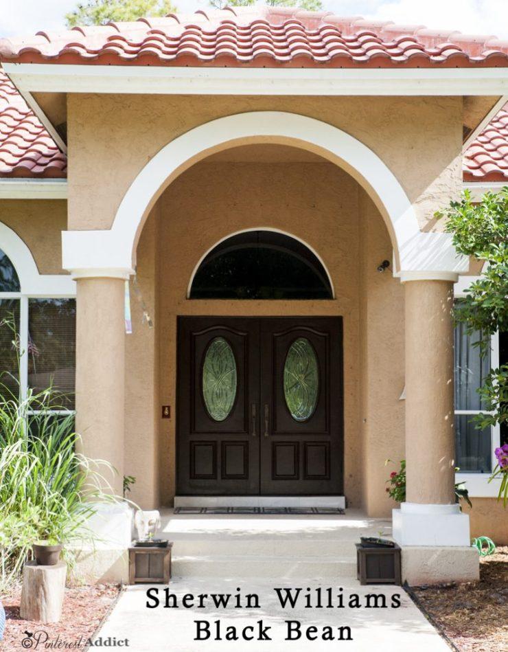 Sherwin Williams Black Bean Front door color