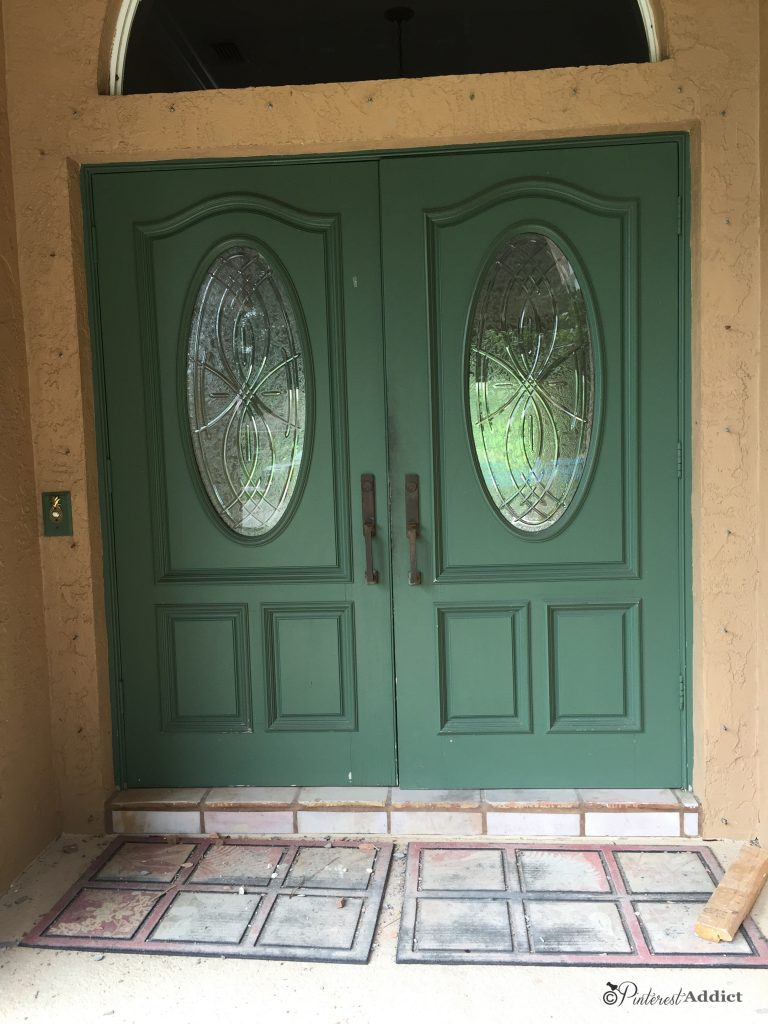 Celery Green Front Door Before (the first time)