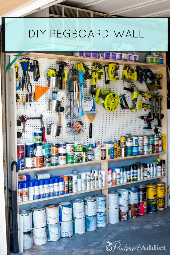 Organizing the Garage - DIY Pegboard Wall