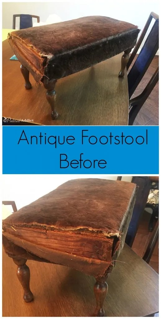 this footstool has been around for a long time - it needed just a little bit of love
