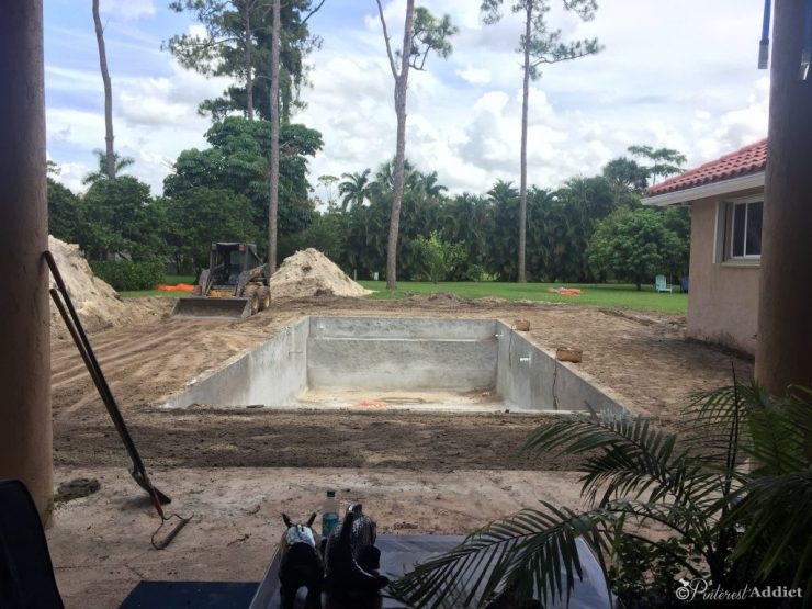 What to expect when building a pool - backfill around the pool