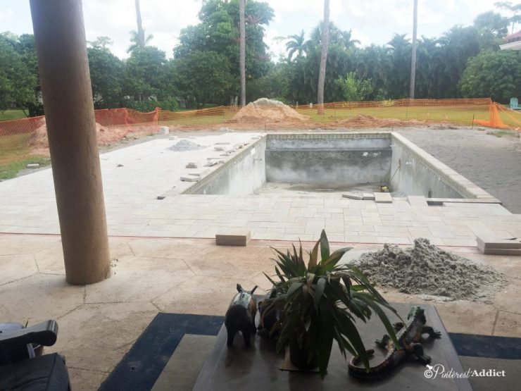 What to expect when building a pool - half the deck is done