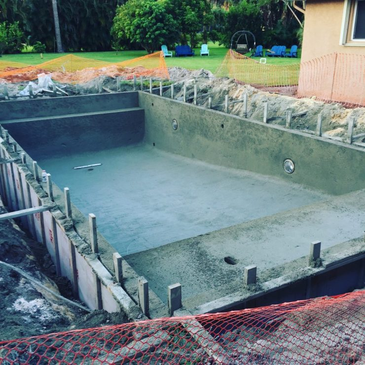 What to expect when you build a pool - concrete shell complete