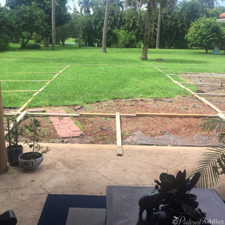 First day of work on the pool build - Pinterest Addict Blog