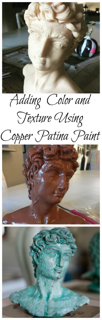Copper Patina Paint Makeover using Modern Masters metallic effects paint