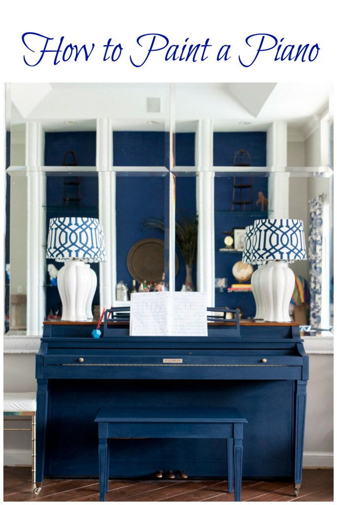 Wow! This navy piano is beautiful! Check out this blog - good tips on how to paint a piano...