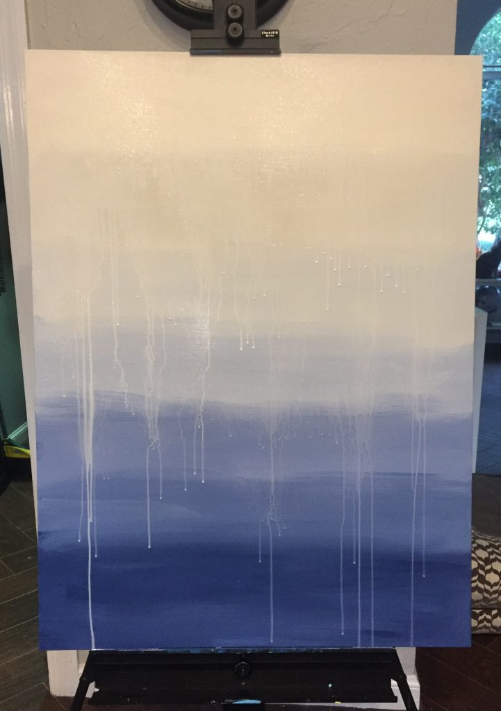Ombre drip painting - Easy DIY art