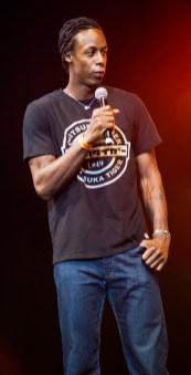 Gaël Monfils durant le Drépaction 2013