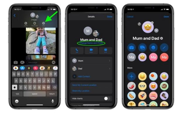 Adding a Photo to iMessage Groups