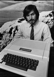 Steve Jobs with the Apple II