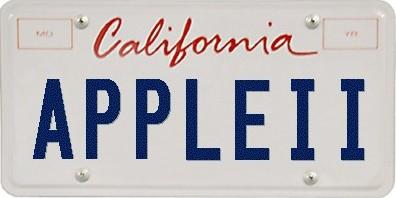 Apple II vanity plate