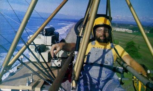 Jack McCornack of Pterodactyl in flight