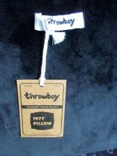 Throwboy iconic Apple pillow -- back