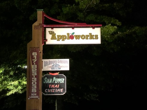 Appleworks post sign
