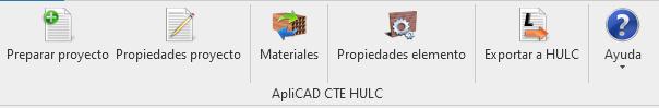 Menú ApliCAD CTE HULC