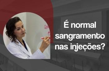 sangramento nas injeções