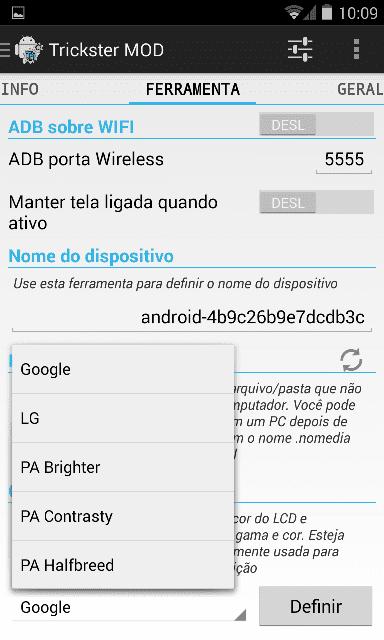 Android 4.4 para Optimus G - driver LG
