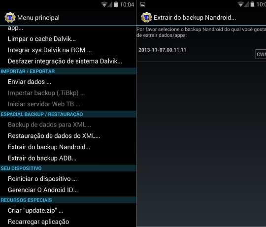 Android 4.4 para Optimus G - backup