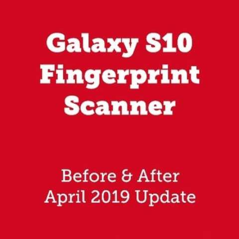 Novo Update Faz com que o Galaxy S10 do Scanner de impressão digital De 4 Vezes mais Rápido