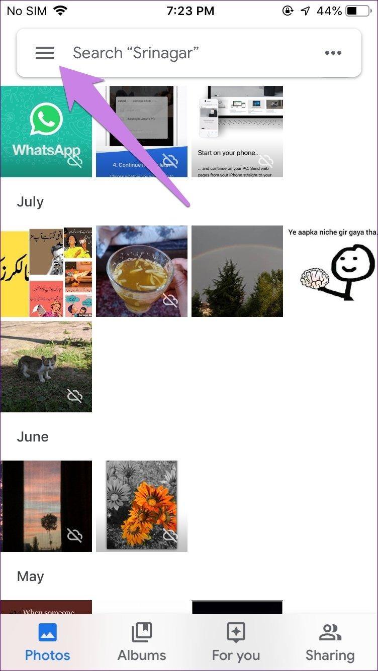 Icloud Iphone para o Google Fotos 1