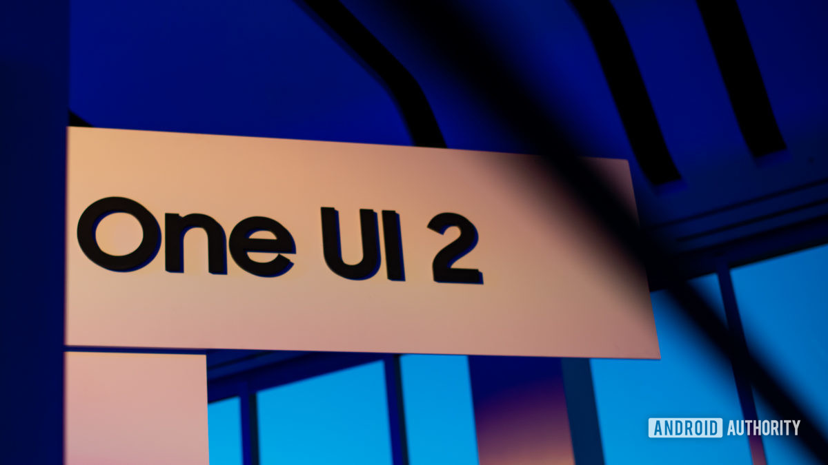 Logotipo Samsung One UI 2.0 na Developer Conference 2019 2