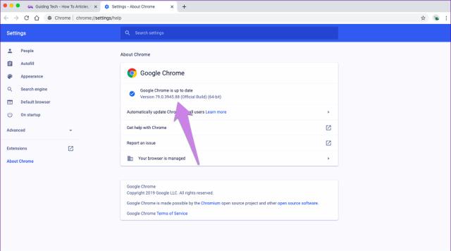 Atualize o Google Chrome 2