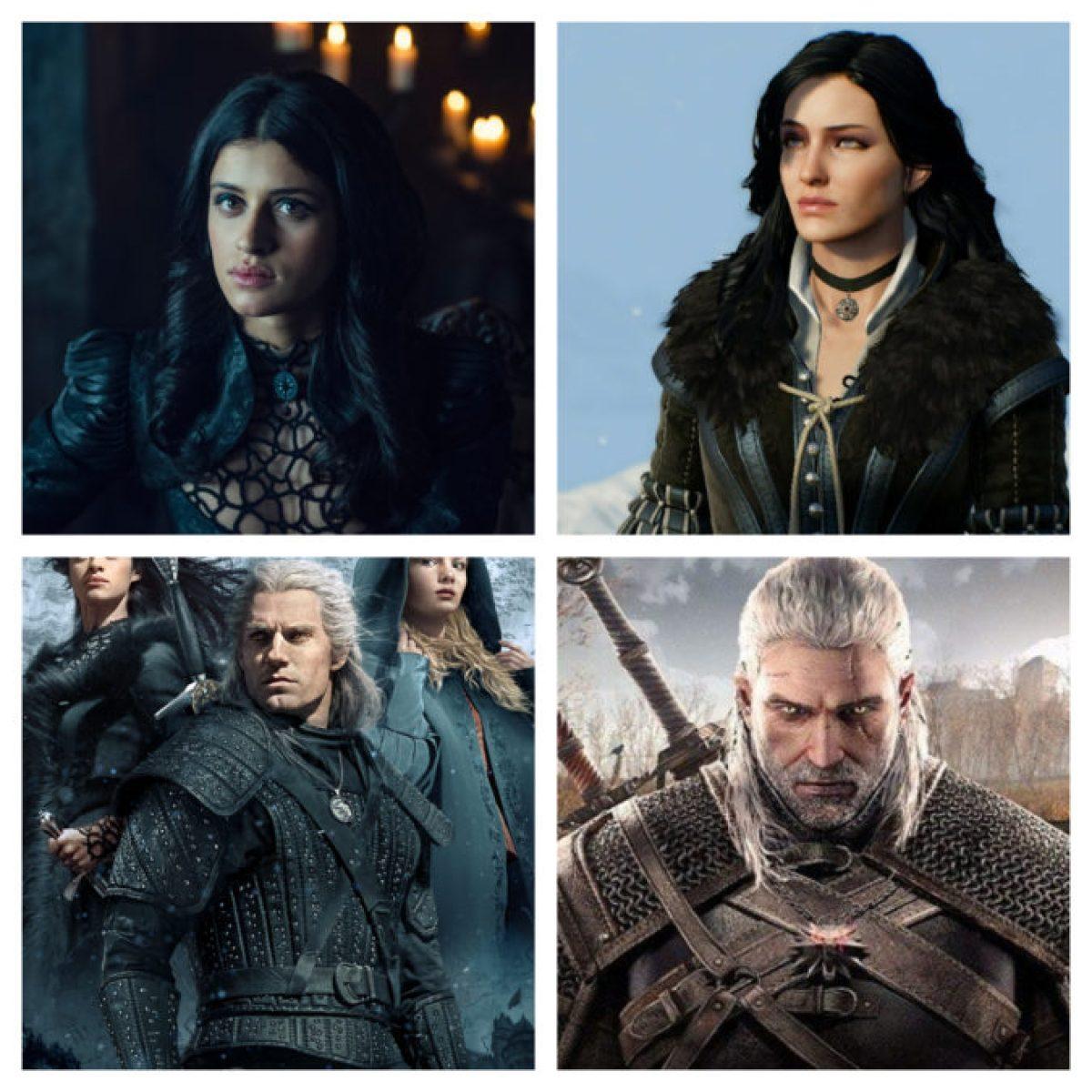 A comparação Witcher com personagens do jogo