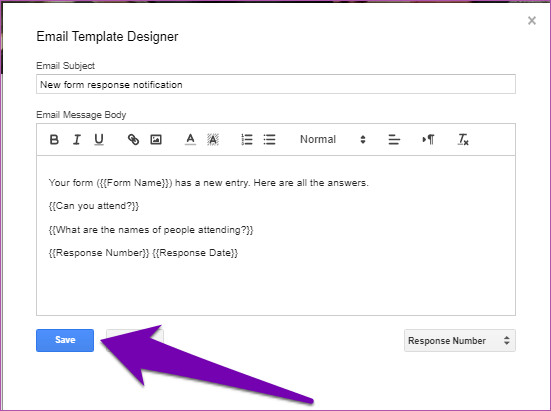 Obter respostas dos formulários do Google por email 16