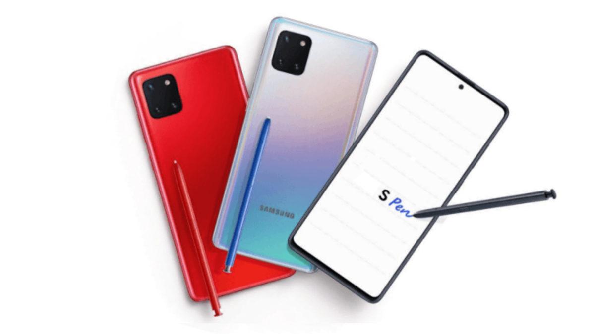 Samsung Galaxy Note10 Lite vazamento WinFuture