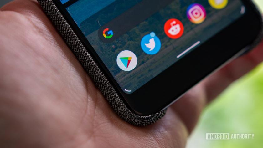 Android Q Beta 5 Alças para assistente do Google