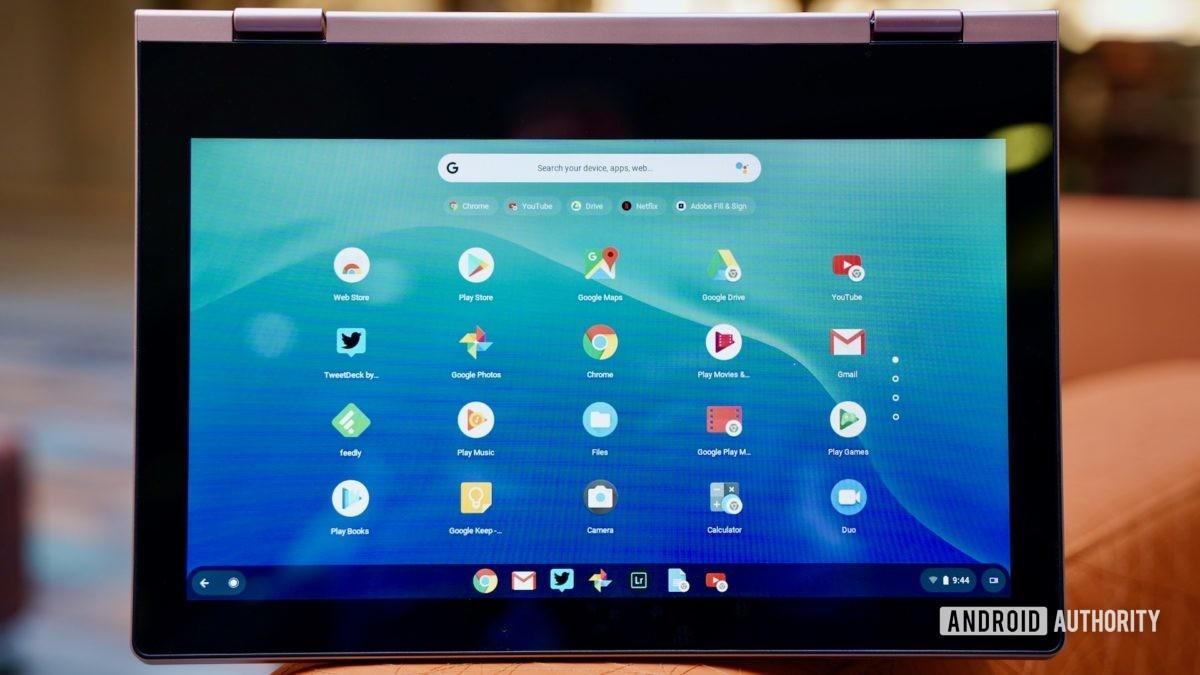 Lenovo Chromebook C340 revisão exibição com molduras