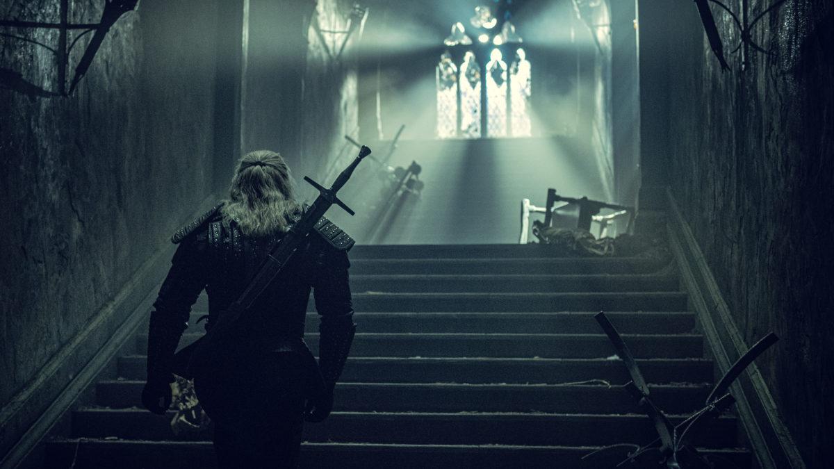 A produção de Witcher ainda do programa Netflix