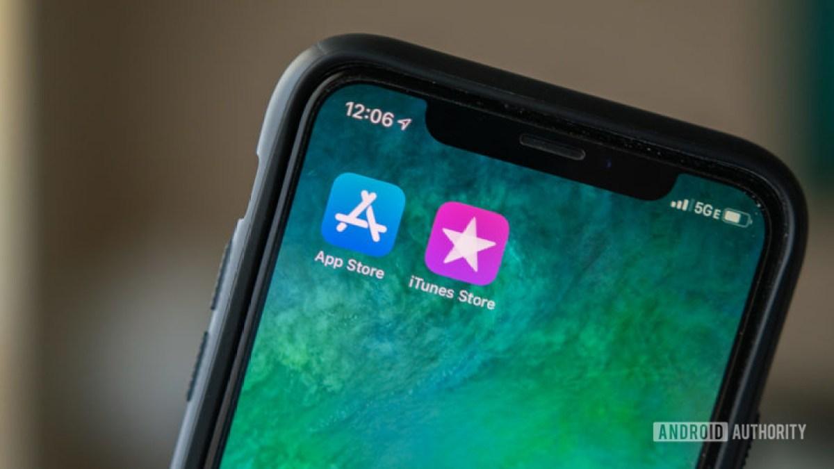 Apple iPhone App Store e logotipo do iTunes