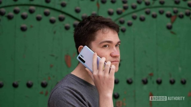 Huawei P30 Pro em uma chamada