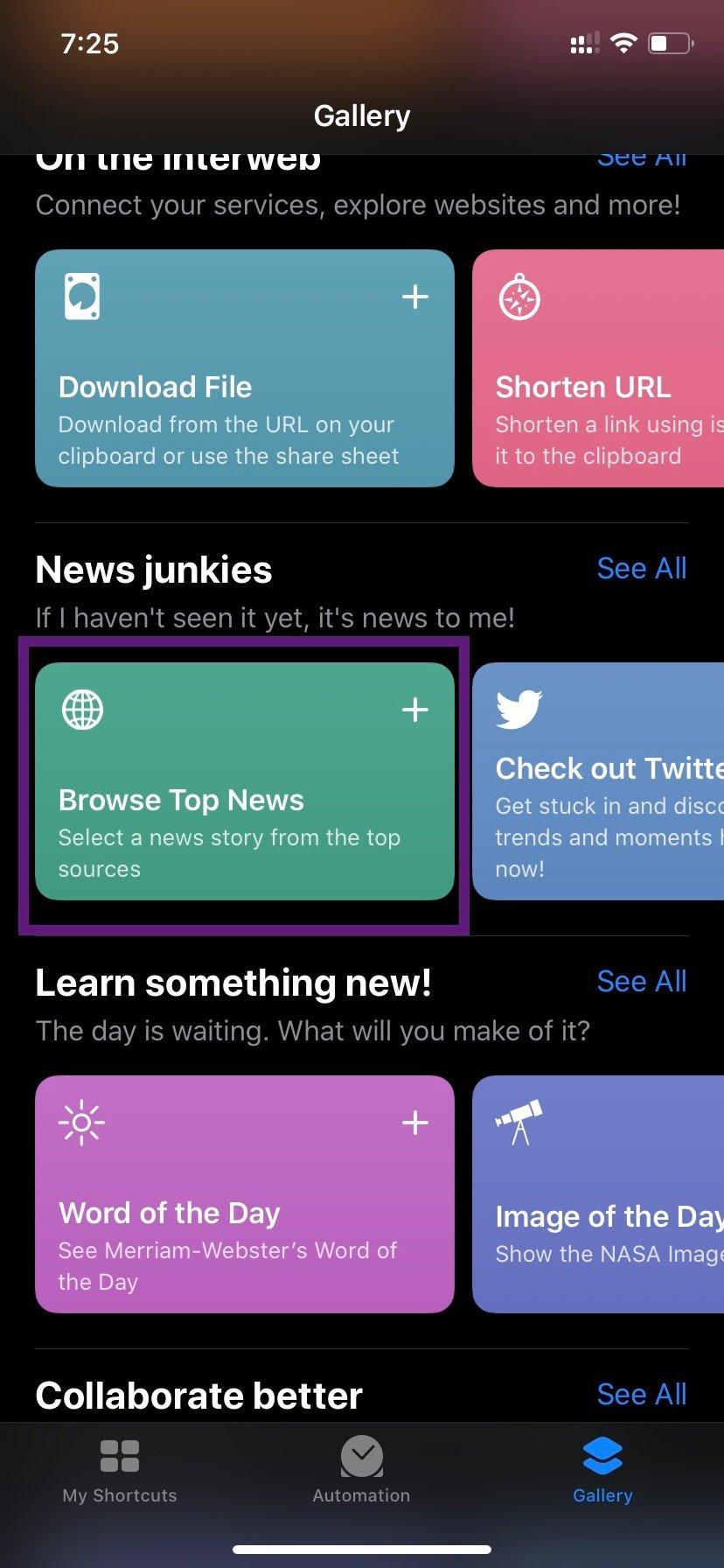 Siri Browse News