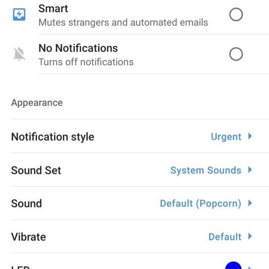 Personalize o Spark para notificações do Android com luzes, sons e vibrações