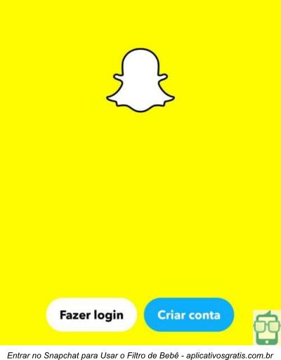 Meu snapchat nao tem filtro bebe iphone