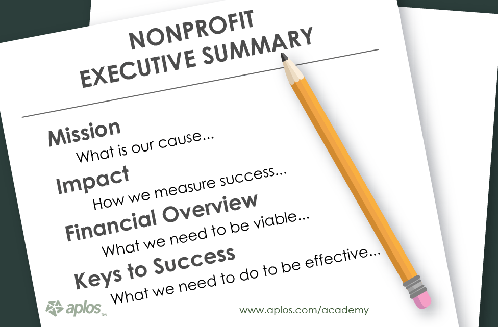 nonprofit business plan executive summary section aplos academy
